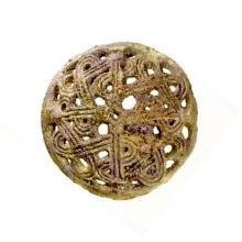 Wikinger-Scheibenfibel - Original Borre-Stil, der nach dem Grabfund von Borre in Vestfold / Norwegen benannt ist. Dieser Fund datiert in das 9. bis 10. Jahrhundert.