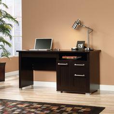 Sauder Select Jamocha Wood Desk | from hayneedle.com