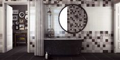 The Ayora Black, Grey and White Patterned Tile is a 330 x 330 tile which gives the effect of nine 110 x110 tiles. Various victorian styled monochrome patterns mixed with the shades of Black, Grey and white allows this tile to mix both modern colours with classic design inspiration. Ideal for use on kitchen and bathroom walls.