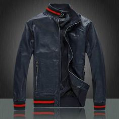 Cheap Gucci Leather Jackets for Men in 55193, $118 USD- [IB055193] - Replica Gucci Jackets for Men