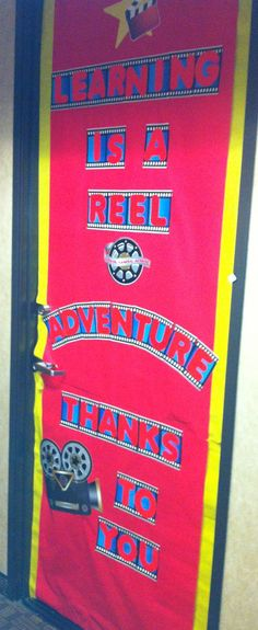 Therapist Appreciation Week aka Teacher Appreciation Week... At Mcrory Pediatrics Preschool... Classroom Door Decorations... Hollywood Theme...
