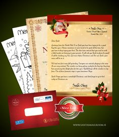 Letter from santa template word photographer davidson nc a a please be good letter from santa this santa pack contains a personalised letter from spiritdancerdesigns Images