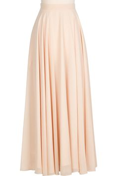 Feel absolutely beautiful in the Chiffon Circle Skirt! Its fluid silhouette is full of volume and gives way to easy strides and beautiful movement. Smart details like side pockets and full lining w. Full Skirt Outfit, Long Skirt Outfits, Long Maxi Skirts, Cute Skirts, Modest Outfits, Dress Skirt, Cute Fashion, Modest Fashion, Fashion Outfits