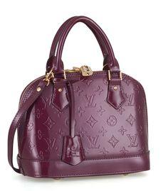 Louis Vuitton monogram vernis purple handbag
