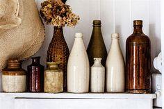 12 ideas que te dan ganas de estar en casa  Botellas y recipientes de cerámica…