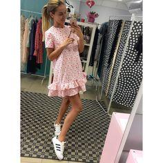 "222 Likes, 15 Comments - design-atelier   showroom (@perfect_dresss) on Instagram: ""#PerfectSummer16 ✨ Хлопковое платье с воланами с принтом LOVE в наличии и под заказ в…"""