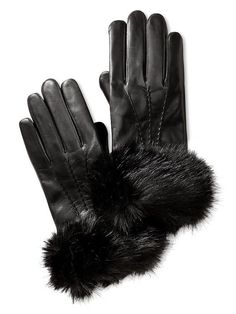Bitchin' Faux Fur Gloves.  You can feel the elegance