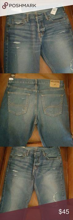 Men's Hollister jeans Men's Hollister jeans 34x32 never worn Hollister Jeans Bootcut