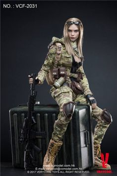 Very Cool Action Figure MC Camouflage Woman Soldier Villa (Fashion Doll) Item picture 10 Diesel Punk, Military Action Figures, Military Girl, Military Female, Cosplay Anime, Female Soldier, Figure Model, Anime Figures, Toy Soldiers