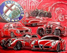 Alfa Romeo 155, Automotive Art, Art Cars, True Love, Illusions, Canvas, Artist, Poster, Promotion