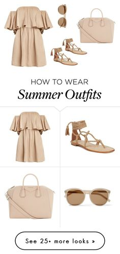 """""""Beige Summer Outfit"""" by carinalynngonyer on Polyvore featuring Yves Saint Laurent and Givenchy"""