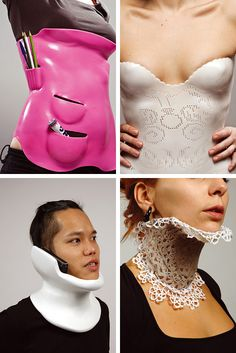 actual neck and back braces for people who break their neck or back.