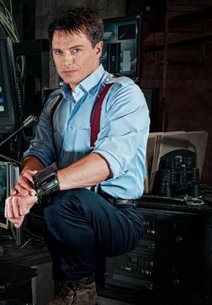 Torchwood is reborn tomorrow night, as a big-budget co-production with the American cable network Starz. But with three seasons of this British science fiction show already out there, what do you need to know to enjoy it? Sherlock, Red Suspenders, Beaux Couples, Doctor Who Companions, Captain Jack Harkness, John Barrowman, Portraits, Actors, David Tennant