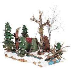 """Department 56: Products - """"Mill Creek Campsite"""" - View Products Halloween Village, Mill Creek, Department 56, Xmas, Christmas Ornaments, Christmas Villages, Campsite, Medieval, Display"""