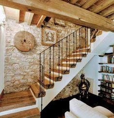 Basement Renovations, Home Renovation, Basement Ideas, Best Flooring For Basement, Modern Basement, Modern Stairs, Modern Loft, Rustic Stairs, Wood Stairs