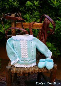 Encajes, Botones, Lanas y Festones Baby Knitting, Crochet Baby, Knit Crochet, Hermes, Baby Dress, Knitting Patterns, Diy And Crafts, Clothes, Ideas