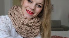 DIY - Kötött Sál (Arm Knitting) ● FollowAnna
