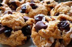 Vegan Chocolate Cherry Coconut Cookies