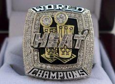 2013 Miami Heat NBA Championship Ring Free shipping!!! Nba Championship Rings, Nba Championships, Nba Rings, Miami Heat, Finals, Class Ring, Saints, Free Shipping, Final Exams