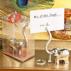 Majestic Elephant Place Card/Photo Holders
