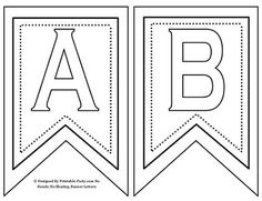Free Printable Banner Letters A-Z 0-9, TH, ST, RD, ND, Decor Flags, & Blank Flags...You can color in the letters you need with crayons or marker, paint, or glitter glue! Enjoy