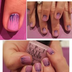 Gel Polish set using OPI Venice collection 'Purple palazzo pants' with some firework inspired nail art :)