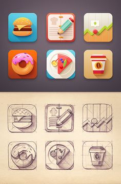 Icons collection | 2012-2013 by Mike , via Behance