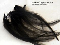 Craft Feathers Black by HairandCraftFeathers on Etsy