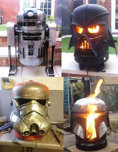 Awesome Star Wars themed wood burners by Burned by Design Metal Fire Pit, Diy Fire Pit, Fire Pits, Metal Welding, Welding Art, Welding Design, Laser Welding, Welding Tips, Welding Ideas