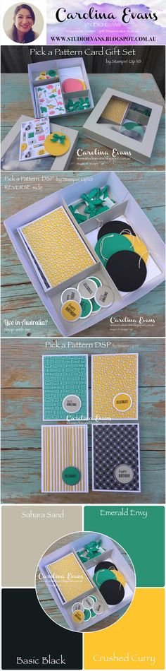 Pick A Pattern Card Gift Set | Carolina Evans - Stampin' Up! Demonstrator Melbourne Australia #carolinaevans #studioevans #stampinup #cardgiftset #pickapattern #annualcatalogue2018 #annualcatalog2018