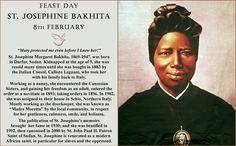 St. Josephine Bakhita Feast Day 8 February