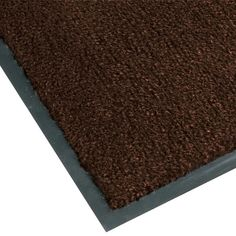 For a step above a commodity entrance mat, choose the Teknor Apex NoTrax T37 434-315 3' x 4' brown carpet entrance floor mat! Made with stain-resistant 100% Olefin fibers, this floor mat is perfect for entrances, aisles, hallways, and lobbies! Providing comfort and safety in one great product, this mat features exceptional moisture absorption and dirt retention that reduces slipping hazards that could otherwise cause costly accidents. A vinyl backing is also included to help reduce ma...