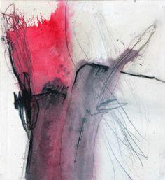 Hohenberger Udo   sin título, 2001  grafito, carbón, acrílico / tela  60 x 55 cm