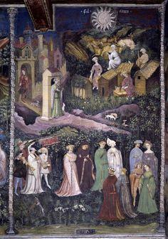 Castello del Buon Consiglio, Torre dell'Aquila Il ciclo dei mesi (1400-1407) affersco