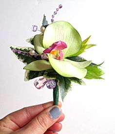 Faux Boutonniere by WeddingsAndWreaths on Etsy. Wedding, Prom, Anniversary, Homecoming, First Communion, Graduation, Birthday, Special Occasion, Celebration