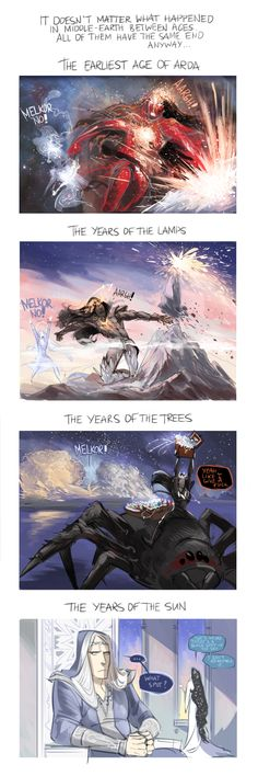 Silmarillion the Summary by Phobs.deviantart.com on @deviantART - BAHAHAHAHAHA (excuse the language but this was too funny to not repin)