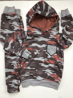 Little Bro Brother Long Sleeve Skater T-Shirt Layered Look Camo Jumping Beans