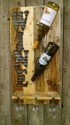 Wine bedspring rack Source by njkotyk Rustic Crafts, Vintage Crafts, Wood Crafts, Diy Crafts, Diy Pallet Projects, Wood Projects, Bed Spring Crafts, Wood Pallet Wine Rack, Wine Bottle Holders