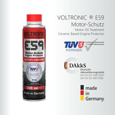 #voltronic E59 Engine Protector base on high novelty ceramic technology. Racing performance engine protector motor oil additive. TÜV Certified Effectiveness