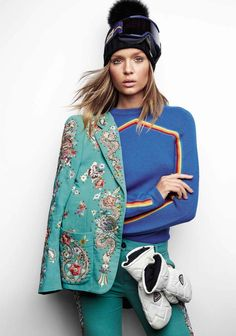 Josephine Skriver wears winter-ready looks in a cover story for the January 2017 issue of Vogue Spain.…