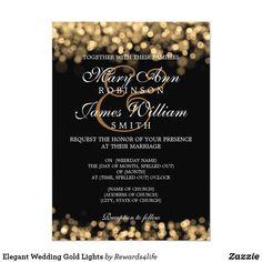 Elegant Wedding Gold Lights