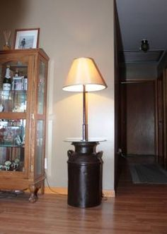 Re-Purposed Milk Can Floor Lamp