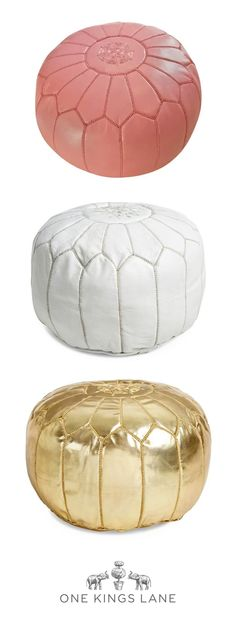 We love a good pouf for it's versatility at home! Use it as an ottoman, a tray-topped table, or even a perch for extra company. Whatever your pouf style, find it on One Kings Lane!