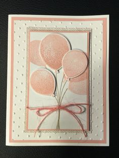 Stampin up Balloon celebration, baby card perhaps?