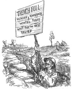 "WWI, 7 March 1917, Punch;""Trench full"" -WWI covered live (@ThisDayInWWI) 
