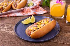 Hawaiian Hot Dog Home Recipes, Cooking Recipes, Burger Dogs, Burgers, Hawaiian Sweet Breads, Hog Dog, Kings Hawaiian, All Fruits, Salsa Recipe