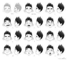 Character designs for ParaNorman