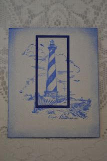 lighthouse card could be masculine birthday card