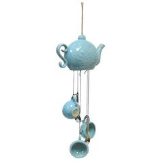 ceramic teapot wind chimes