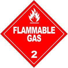 Science Laboratory Safety Signs: Flammable Gas Symbol
